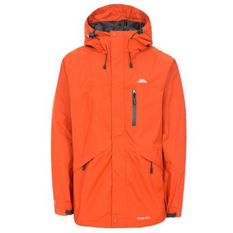 Trespass Unisex Waterproof Jacket Various Colours Corvo - Burnt Orange S