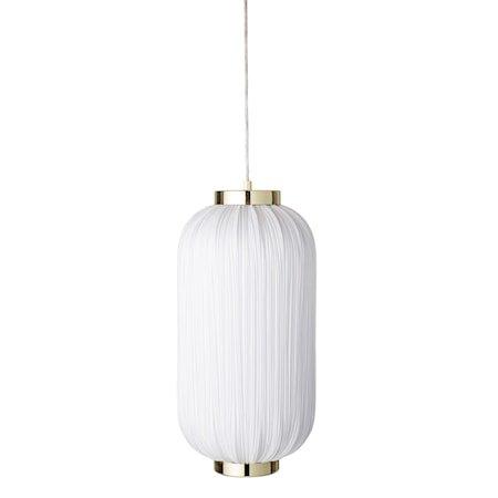 Taklampe White Textile