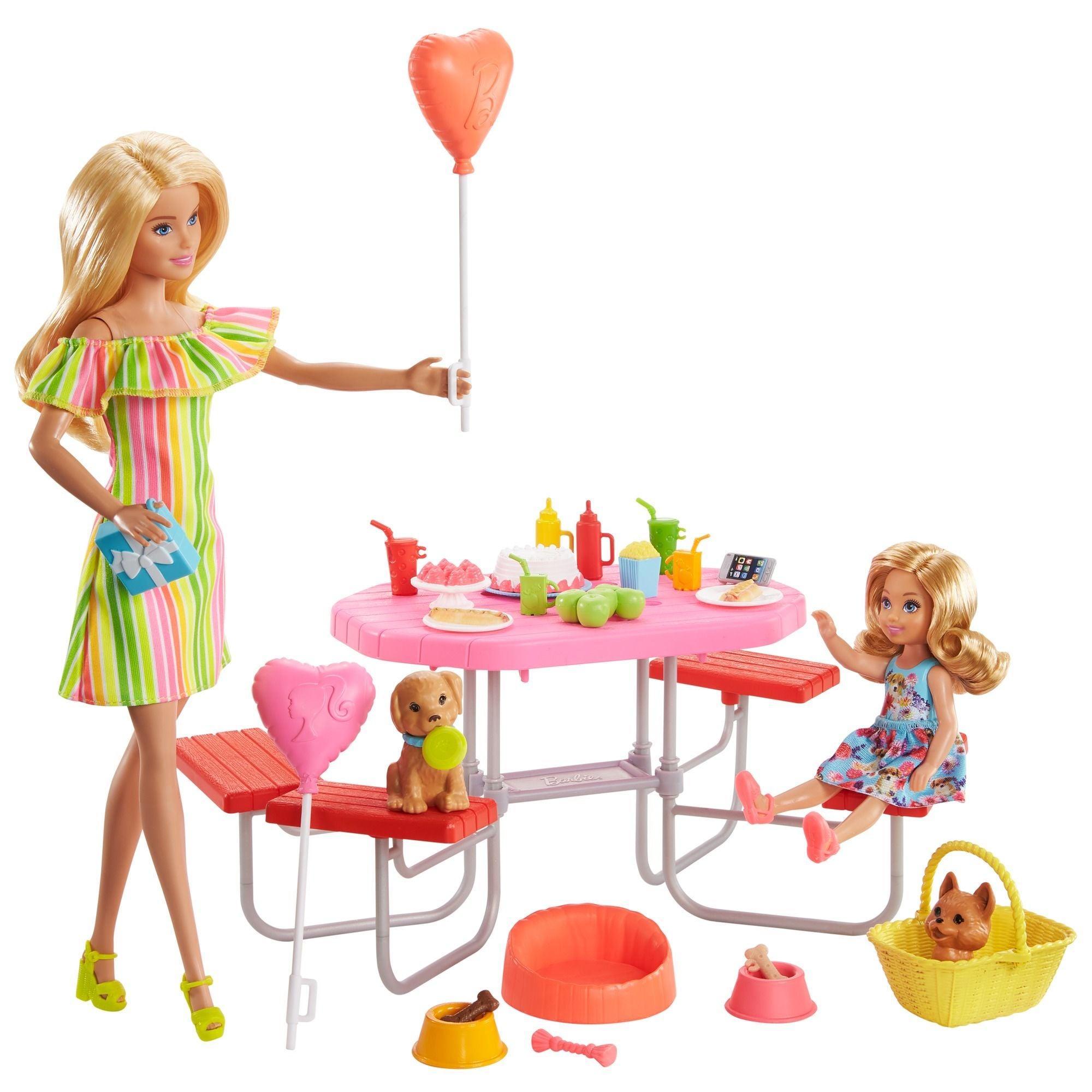 Barbie ja Chelsea Piknikillä