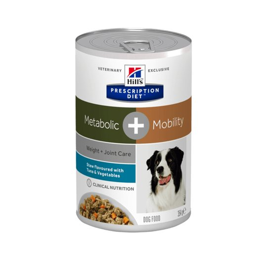 Hill's Prescription Diet Canine Metabolic + Mobility Weight + Joint Care Stew Tuna & Vegetables 354 g