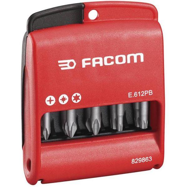 Facom E.612PB Bitssett i etui 10 stk, sekskant