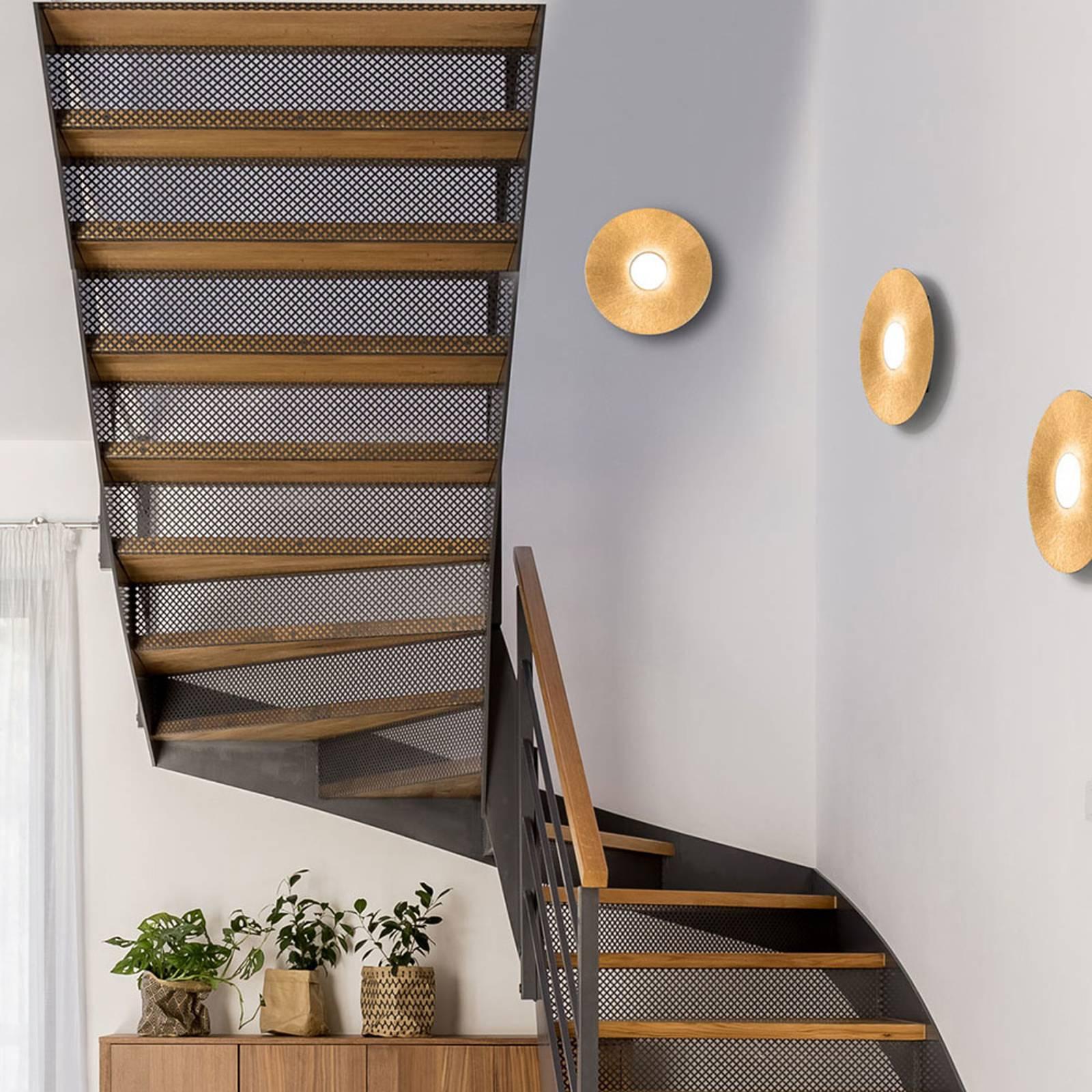 LED-seinävalaisin Circle Sun, kulta, 1-lamppuinen