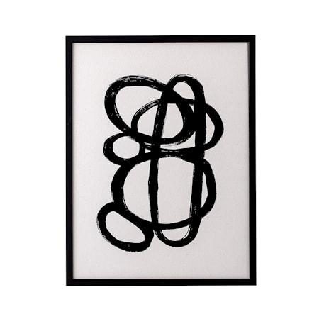 Ram Svart Tall Abstrakt poster