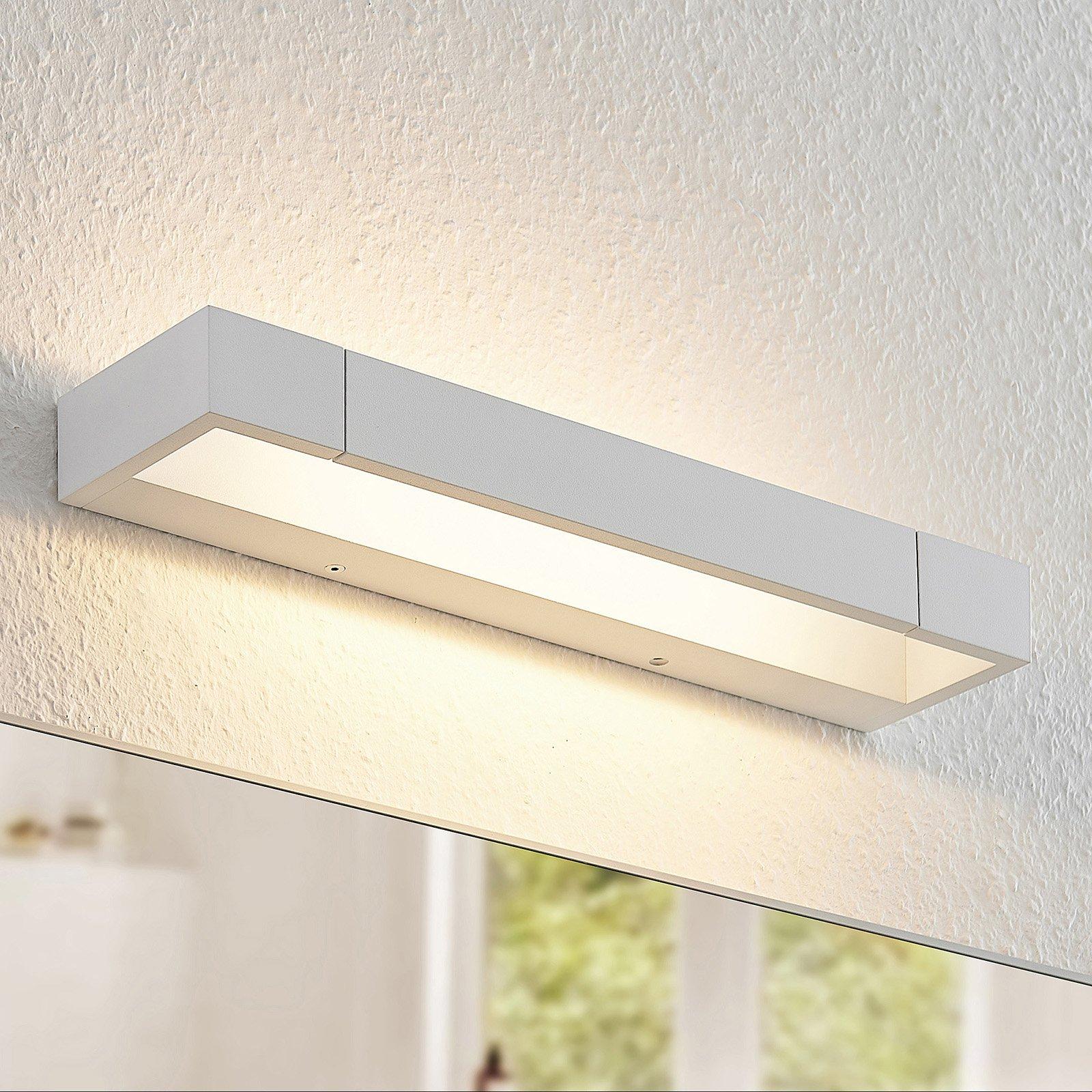 Arcchio Jora LED-vegglampe, IP44, hvit, 40 cm