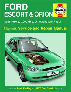 Haynes Reparationshandbok, Ford Escort & Orion Petrol, Universal
