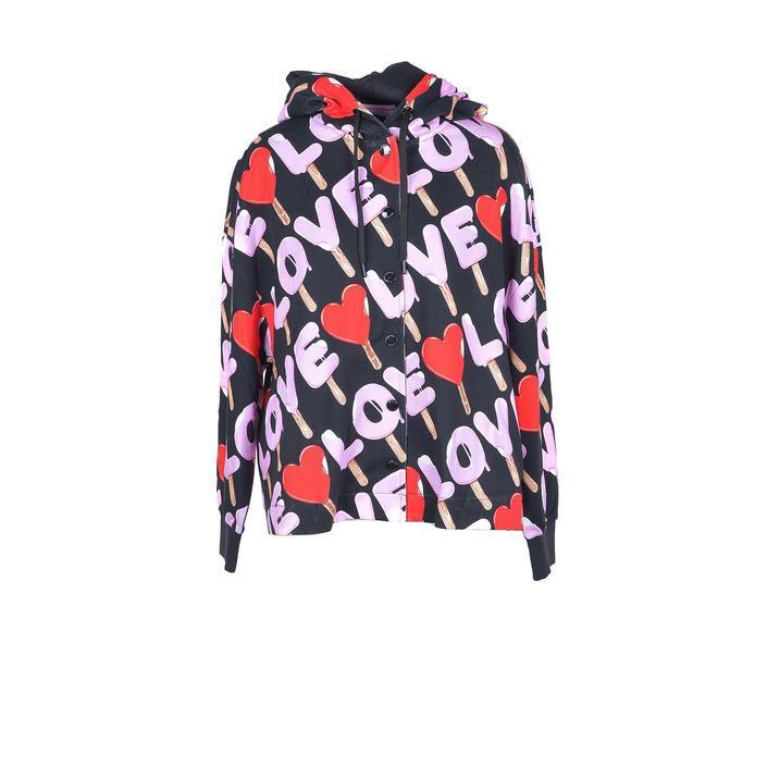 Love Moschino Women's Sweatshirt Black 210821 - black S