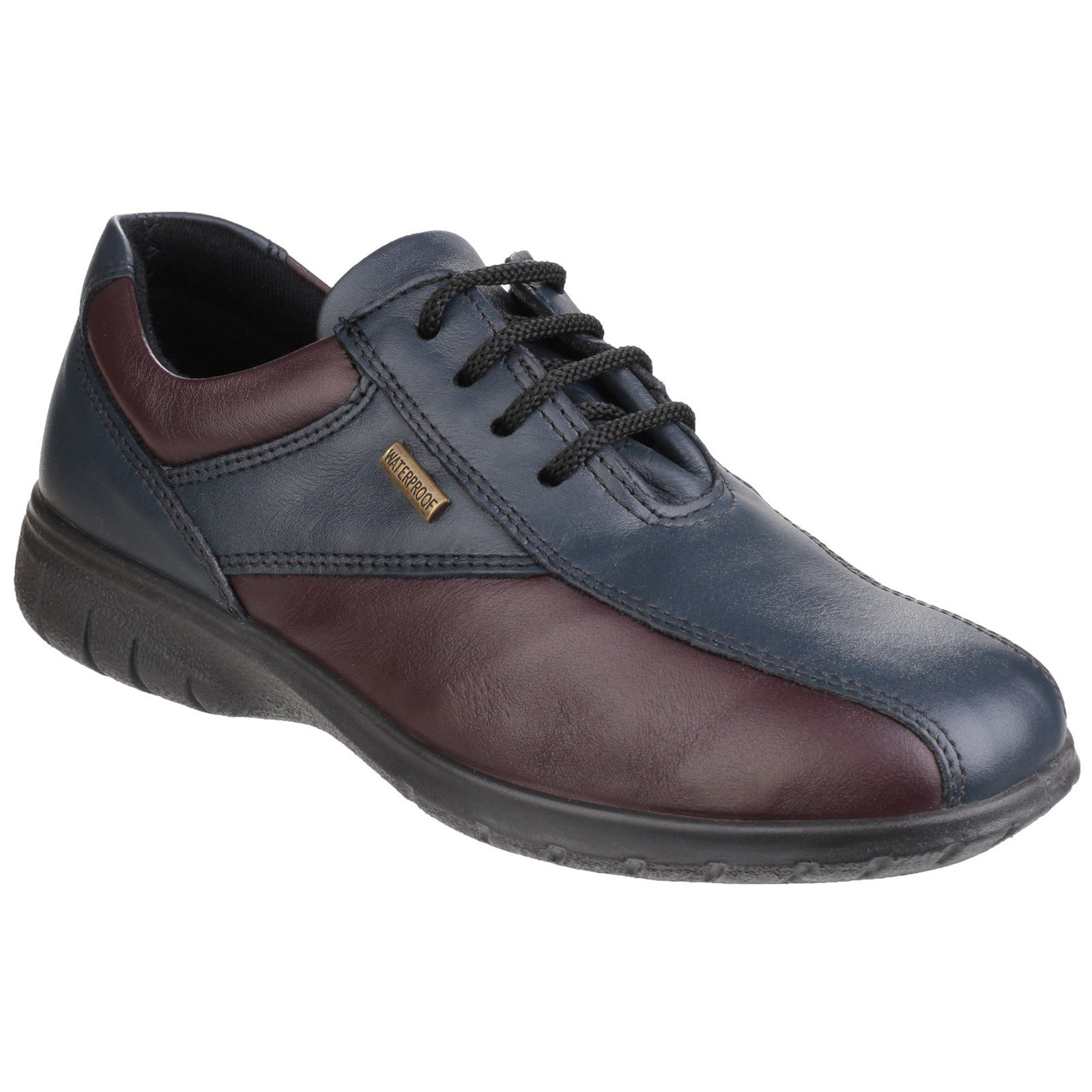 Cotswold Women's Collection Salford Shoe Various Colours 32981 - Navy/Bordo 8