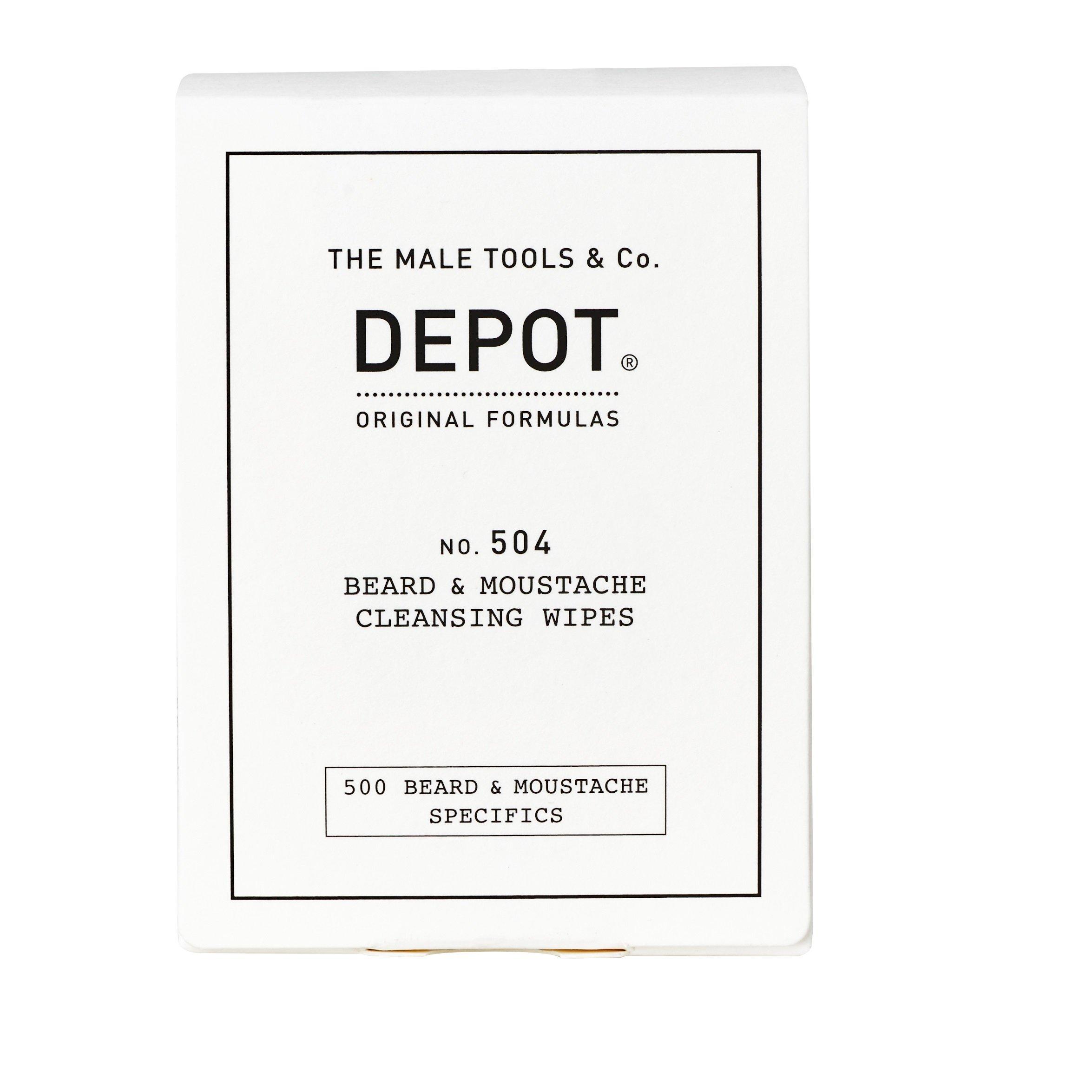 Depot - No. 504 Beard & Moustache Cleansing Wipes 12 Salviette