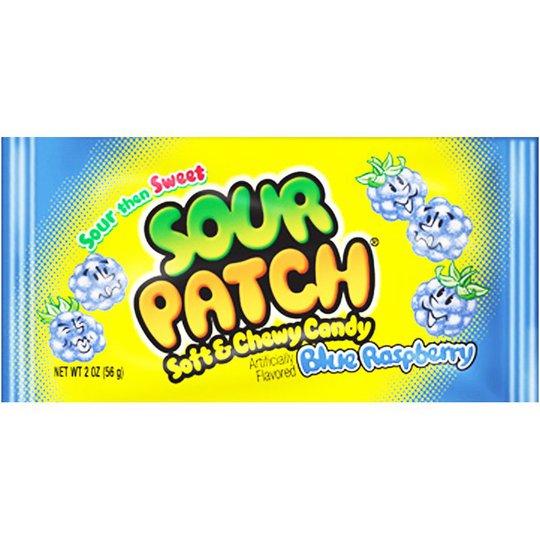 "Godis ""Sour Patch Blue Raspberry"" 56g - 76% rabatt"