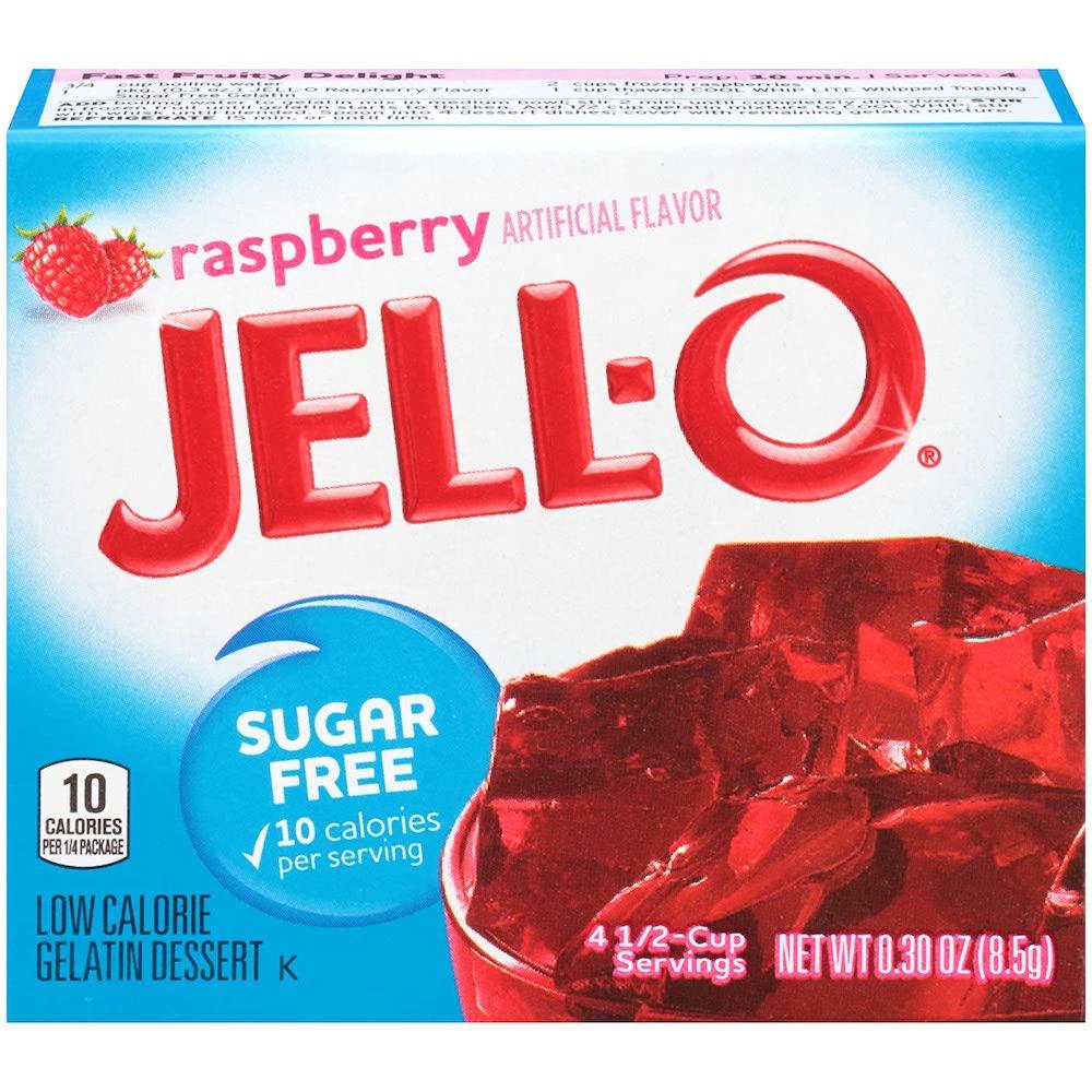 Jello Sugar Free Raspberry 8.5g