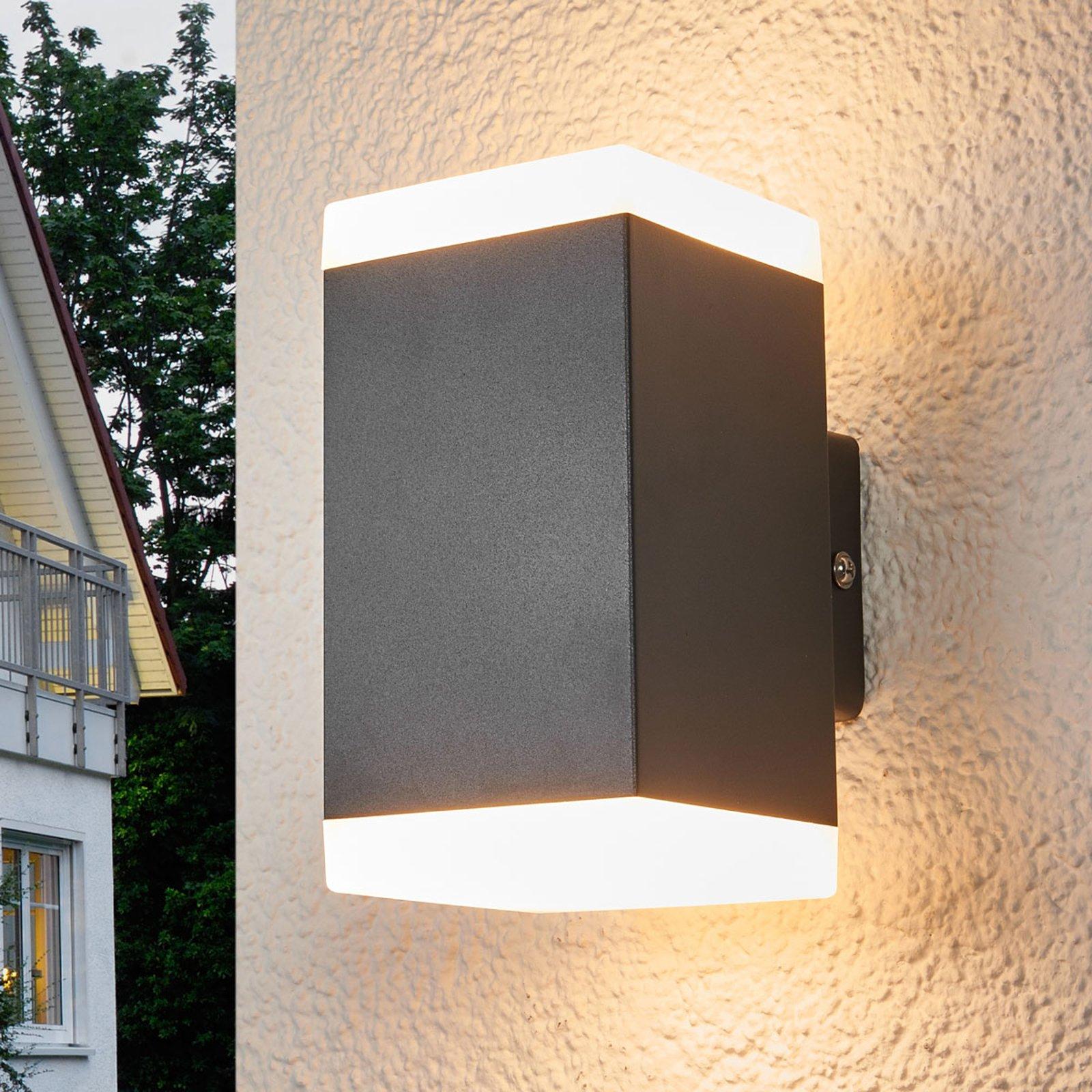 Hedda - firkantet LED-utevegglampe