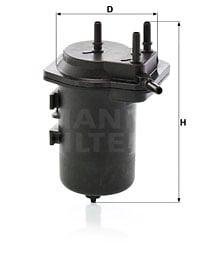 Polttoainesuodatin MANN-FILTER WK 939/6