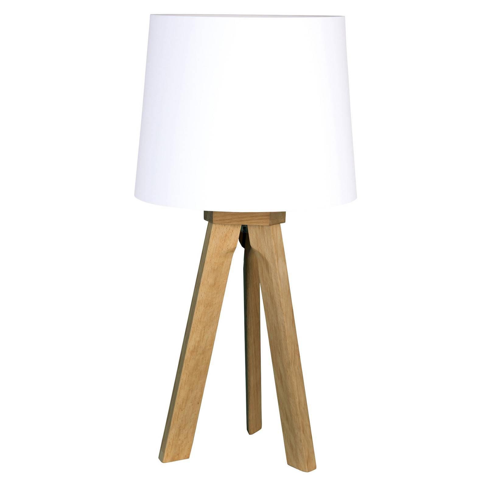 HerzBlut Tre bordlampe, oljet eik, 68 cm