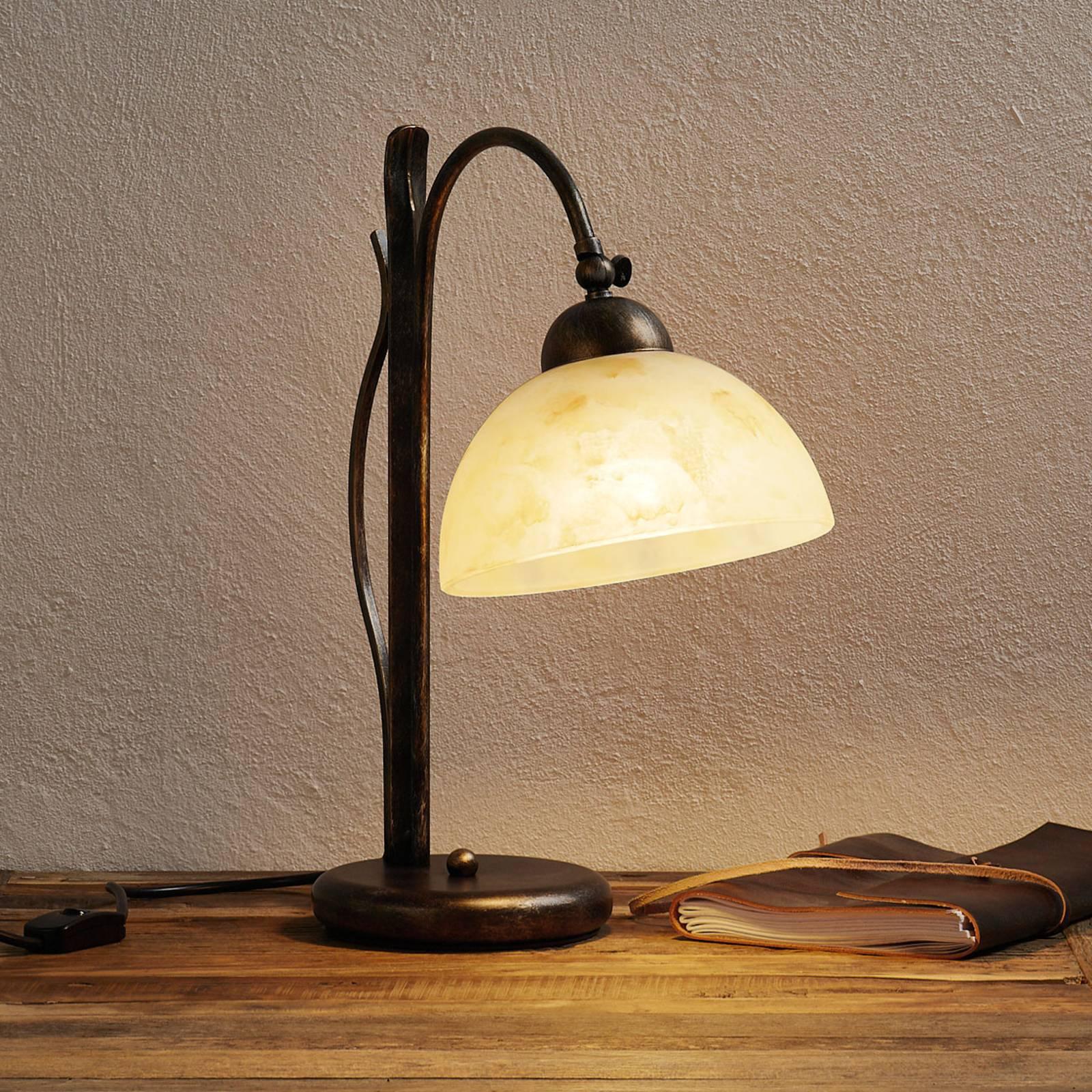 Håndmalt DANA bordlampe