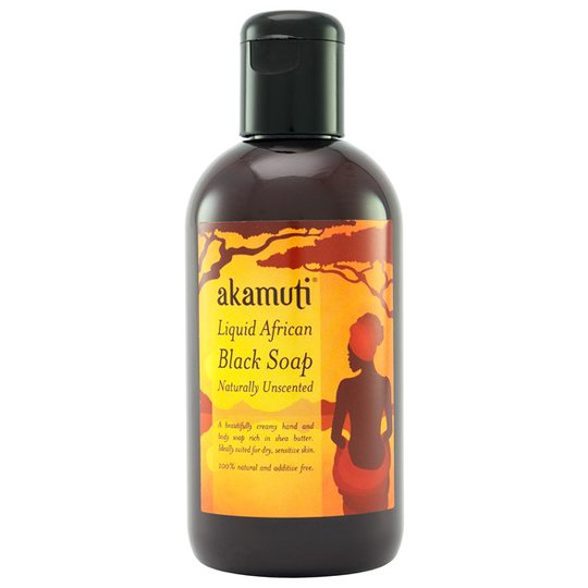 Akamuti Liquid African Black Soap Unscented, 250 ml