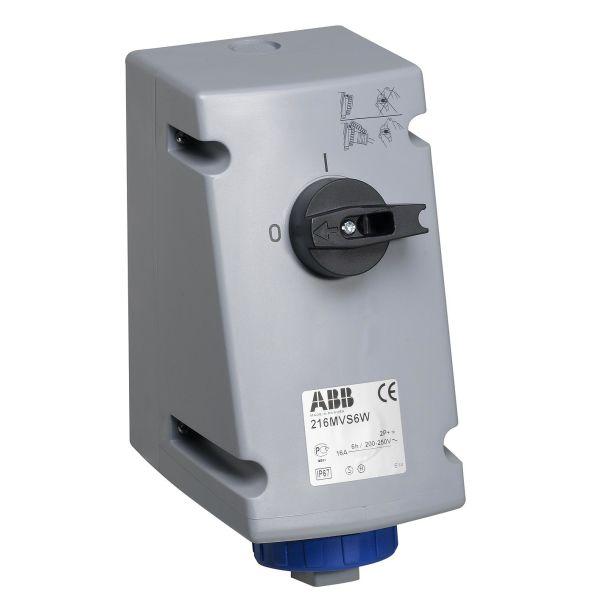 ABB 2CMA167824R1000 Seinäpistorasia IP67, 2P+J, 230 V