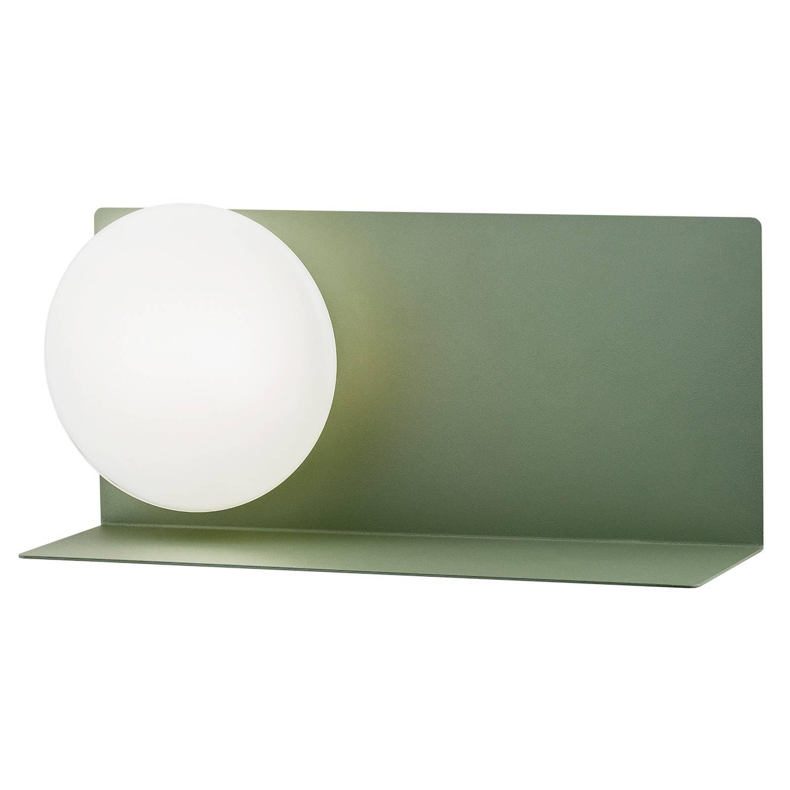 LED-seinälamppu Clark lasivarjostimella, vihreä