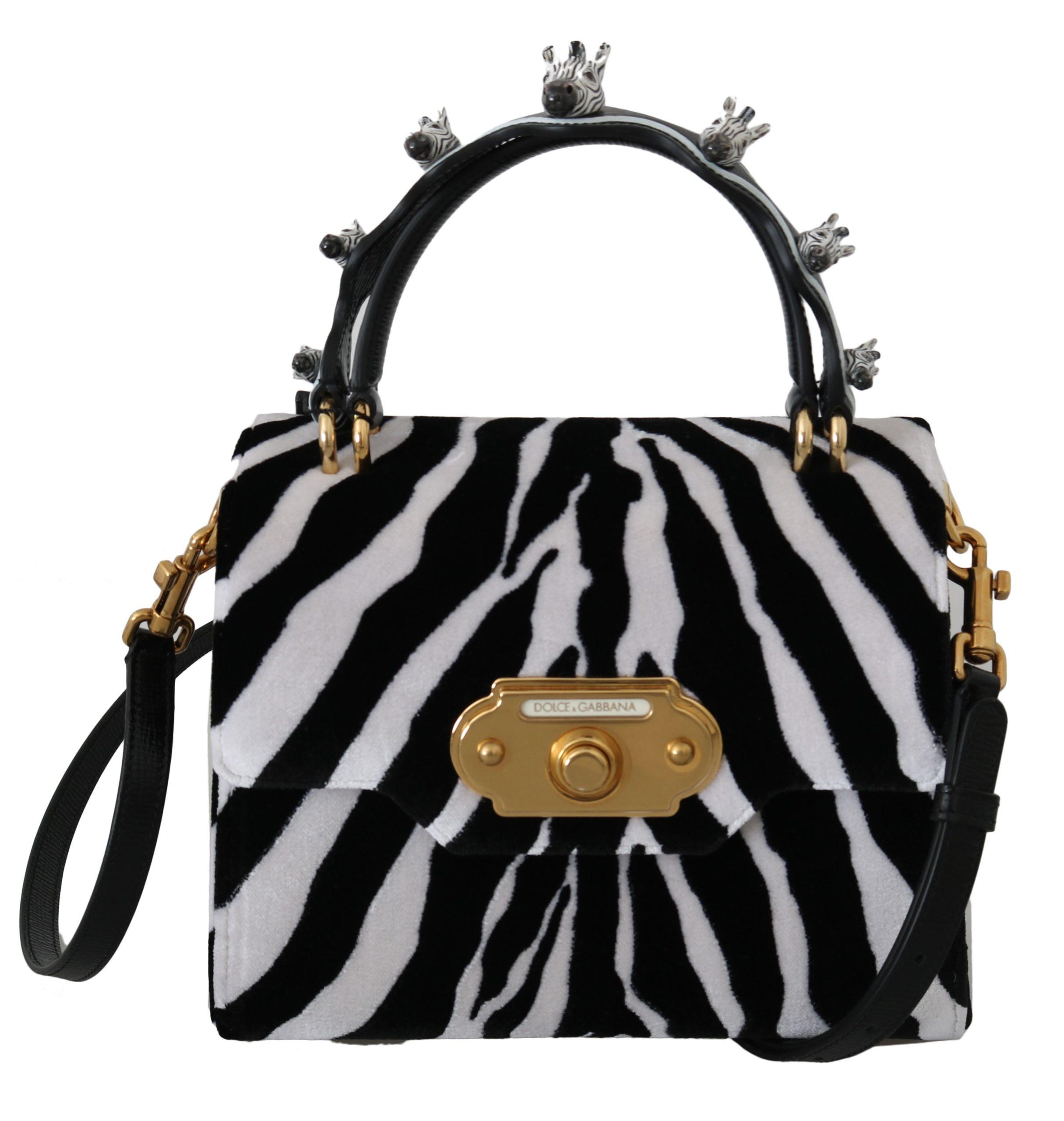 Dolce & Gabbana Women's Zebra WELCOME Handbag Multicolor VA8816