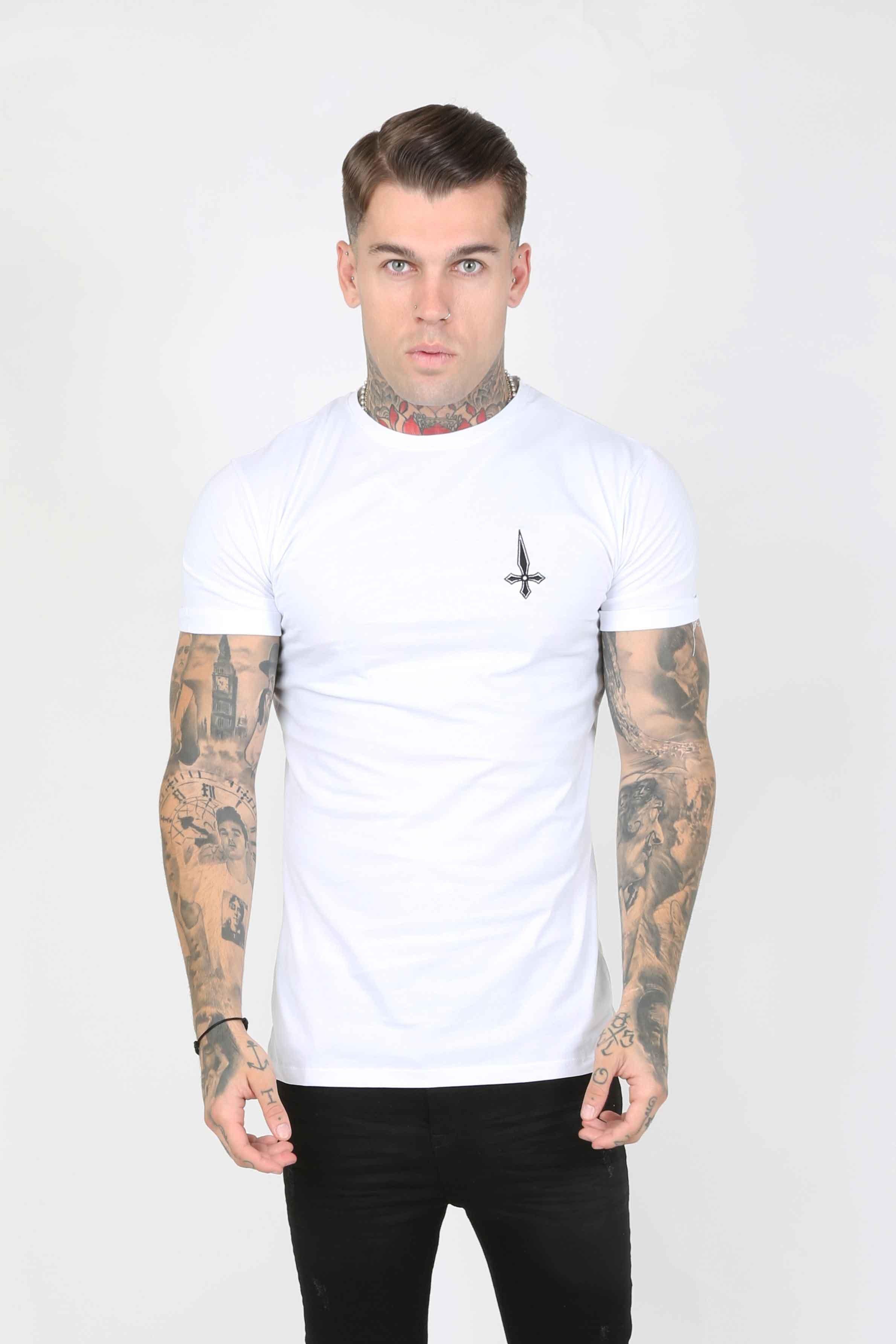 Core Twinpack Men's T-Shirt - White/Grey, Small