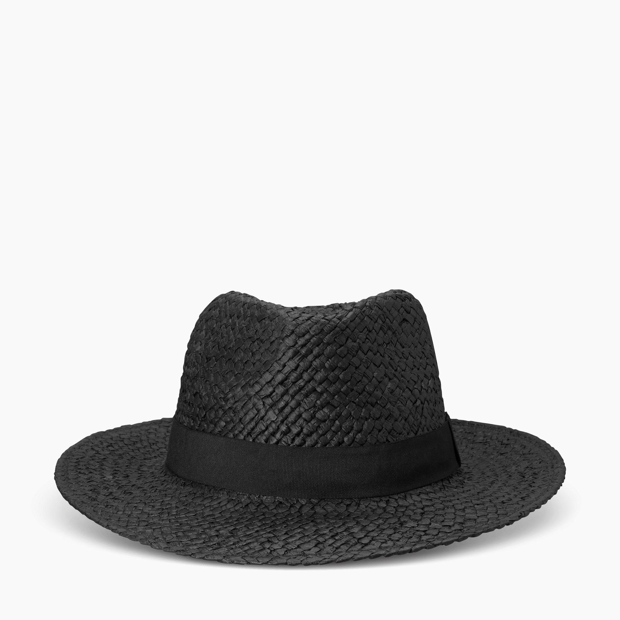 Hatt, flätad med band