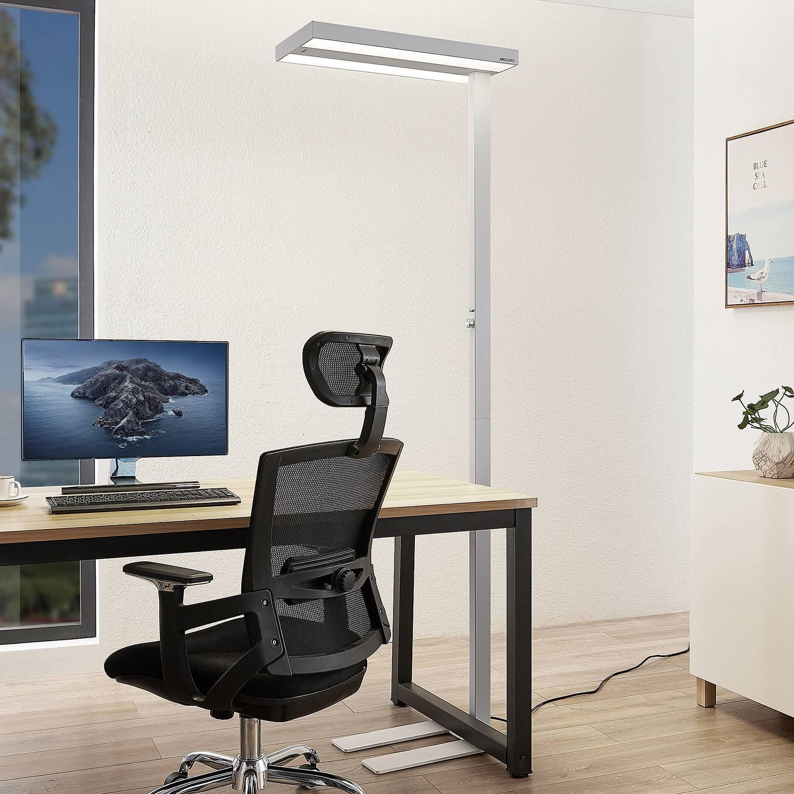 Arcchio Nelvana LED-gulvlampe, sensor, hvit