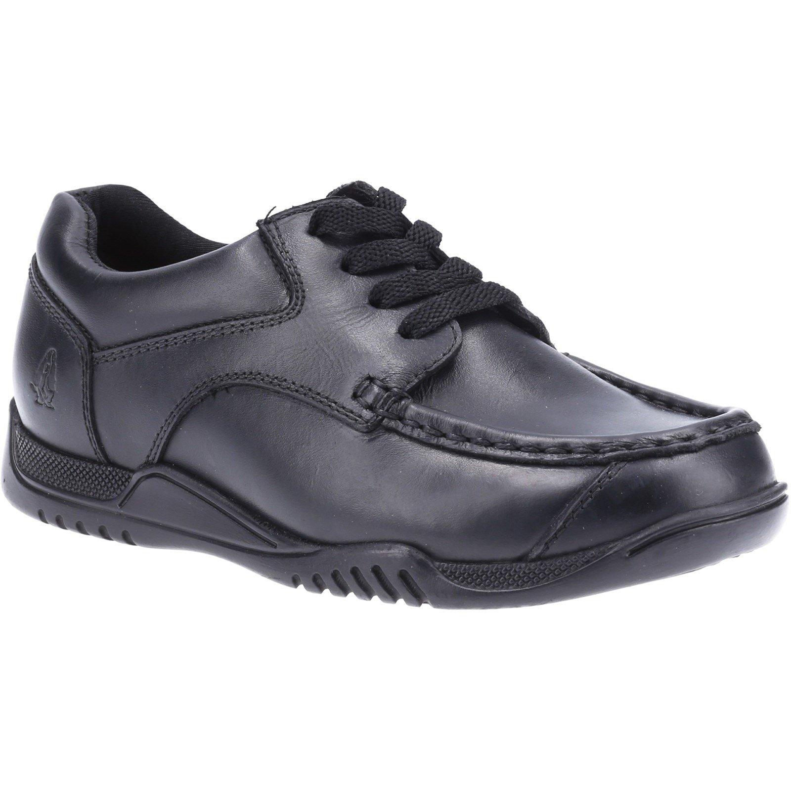 Hush Puppies Kid's Hudson Junior School Shoe Black 32582 - Black 12