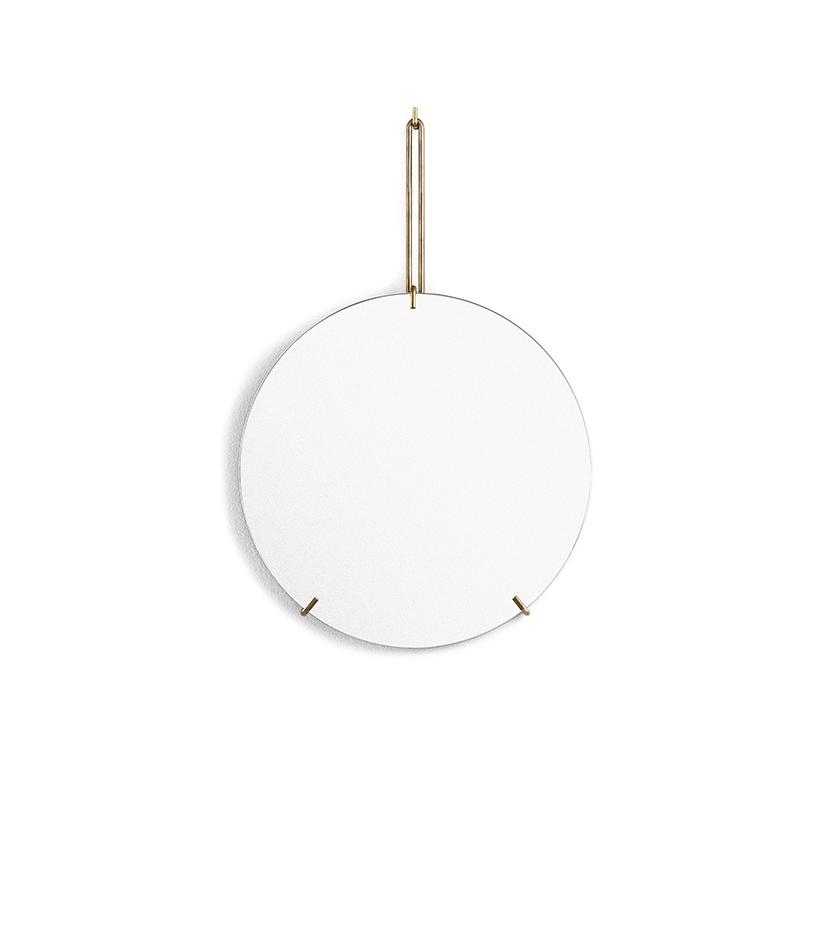 Spegel Ø30cm WALL MIRROR brass, MOEBE