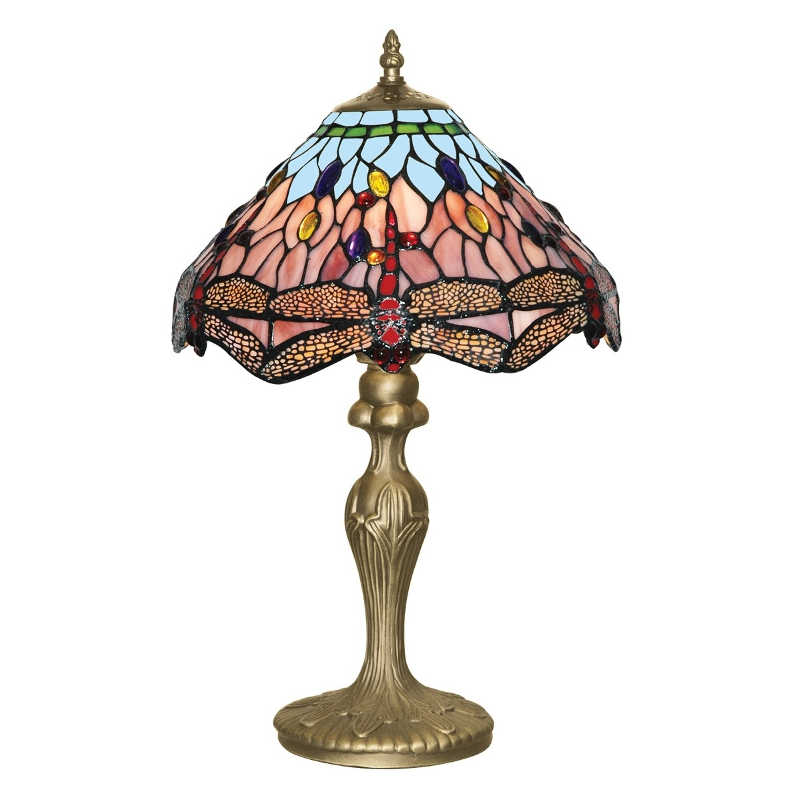Fortryllende bordlampe i Tiffanystil DRAGONFLY