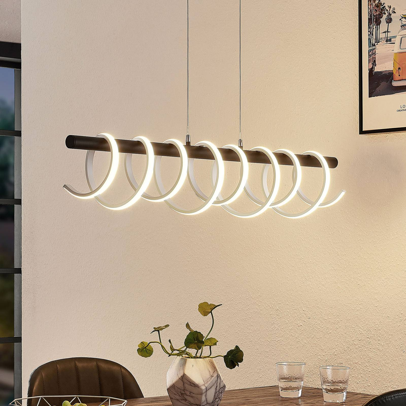 Lucande Kimri -LED-riippuvalaisin