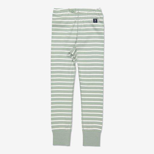 Stripet bukse grønn