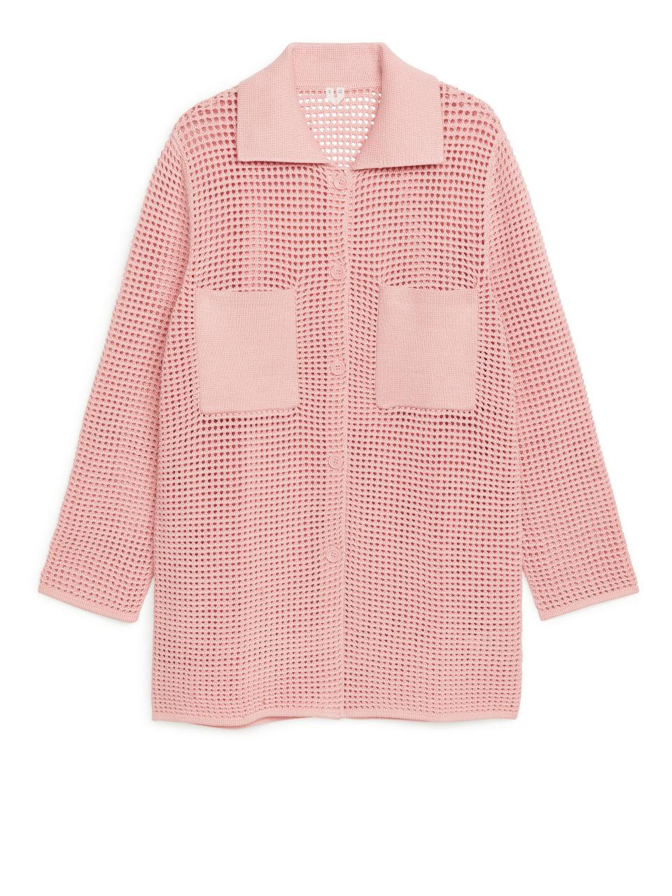 Crochet Cardigan - Pink