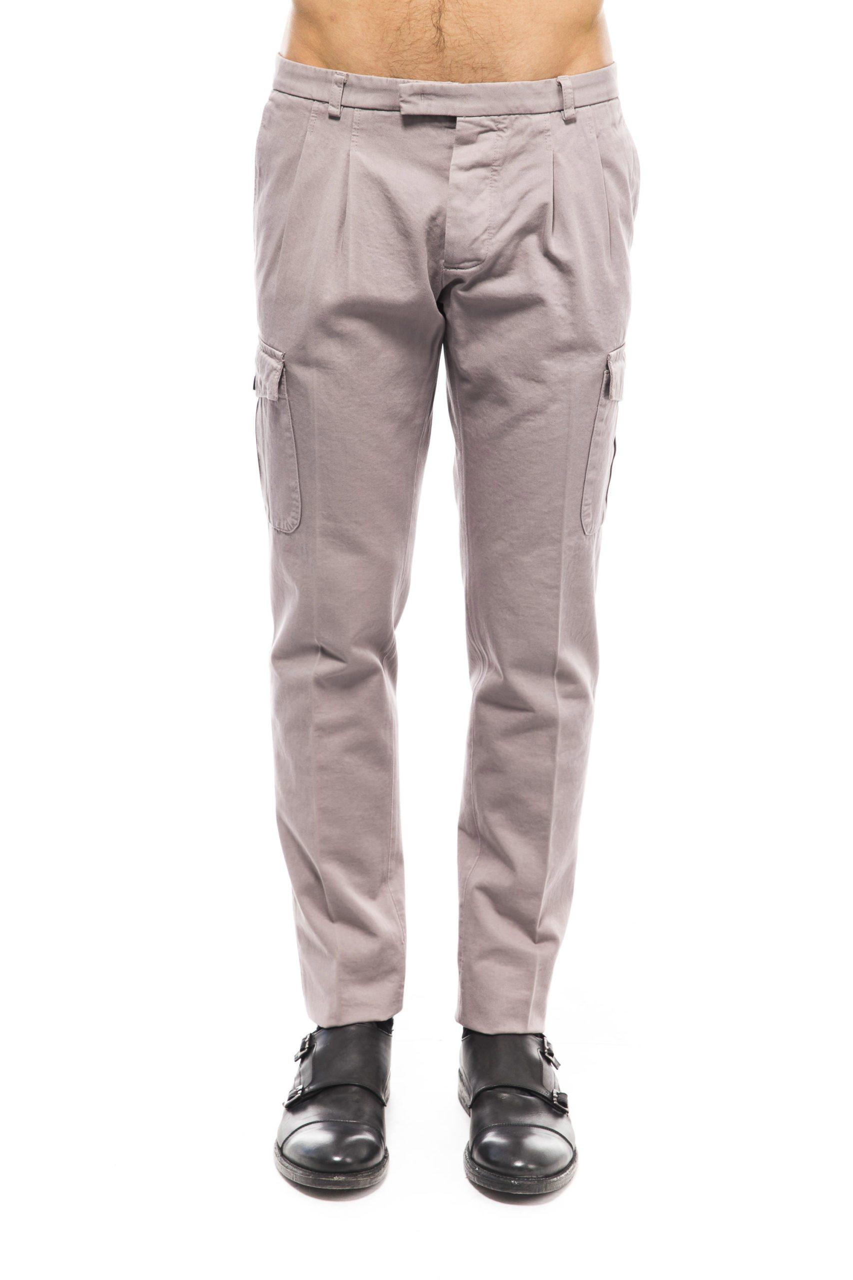 Uominitaliani Men's Trouser Gray UO1394756 - IT46 | S