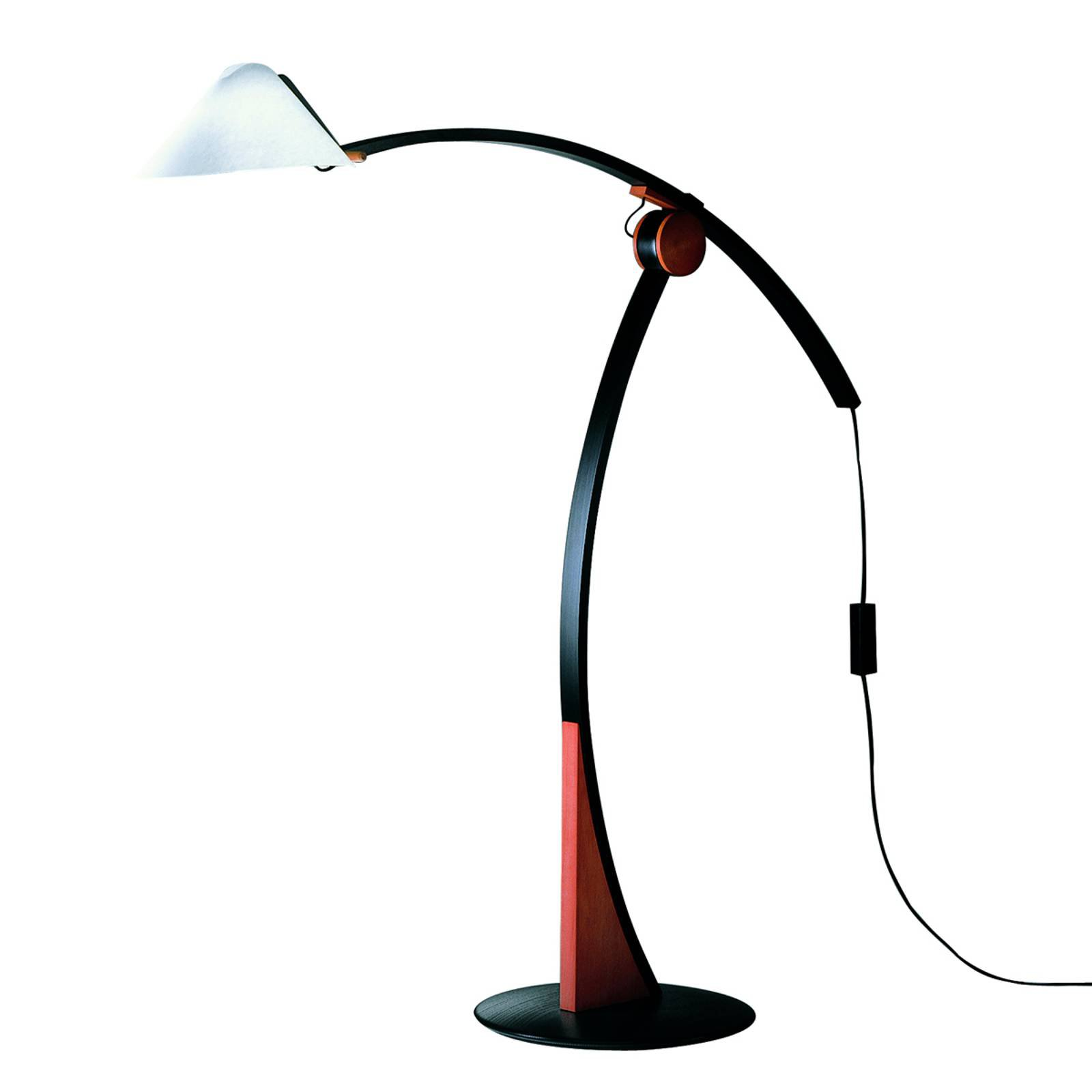 Gulvlampe Pollo E27 kirsebærfarget, svart dimbar