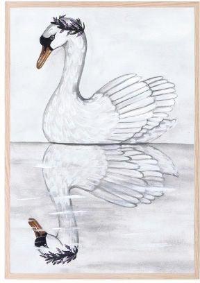 That's Mine Juliste Swan Reflection 30x40