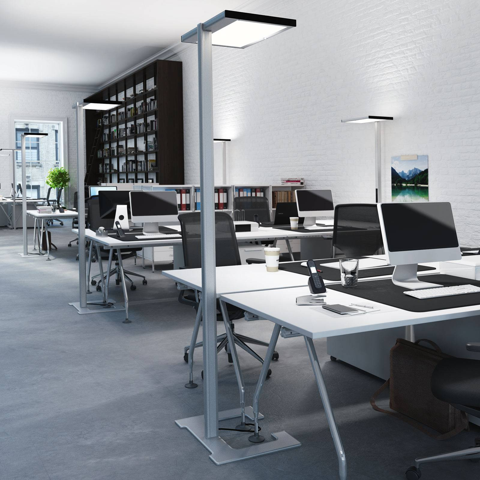 Luctra Vitawork LED-toimistolattiavalo 12000 lm