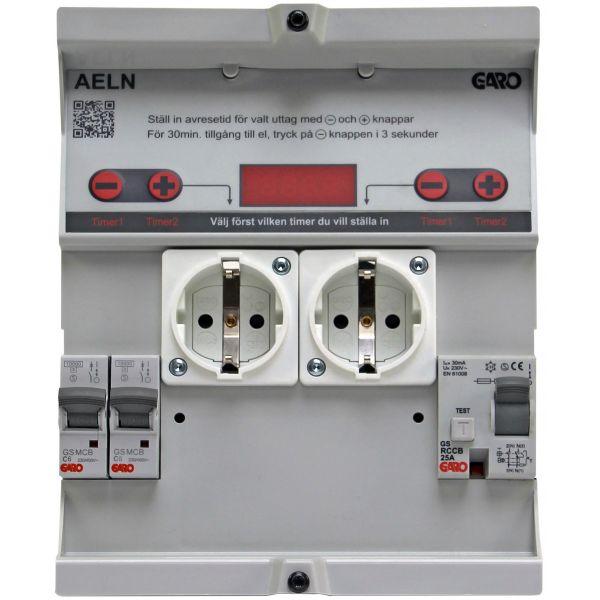 Garo AELN 206-1 Innsats tids- og temperaturstyrt 6 A uten måling, jordfeilbryter