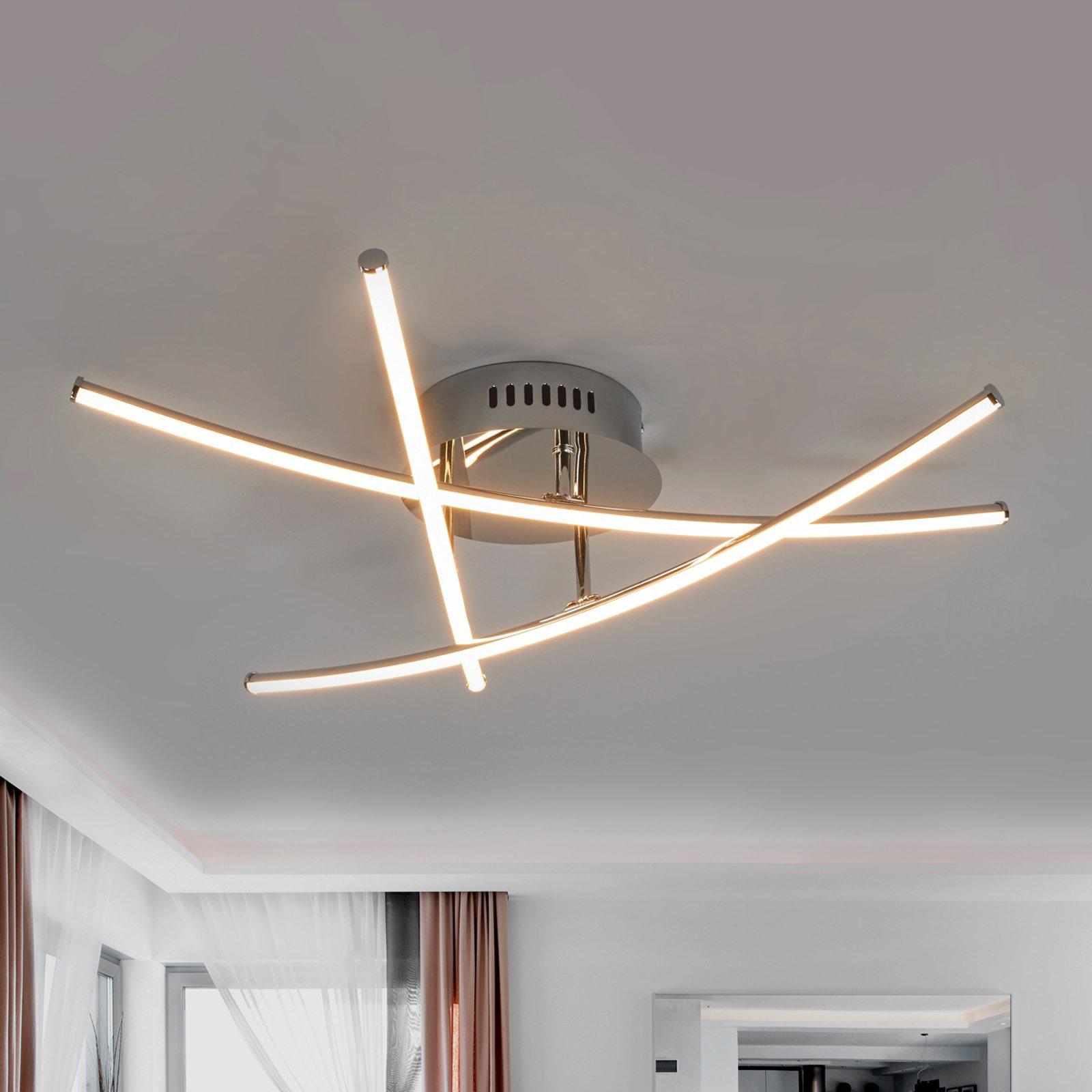 Yael vakker LED-taklampe med kryssende staver