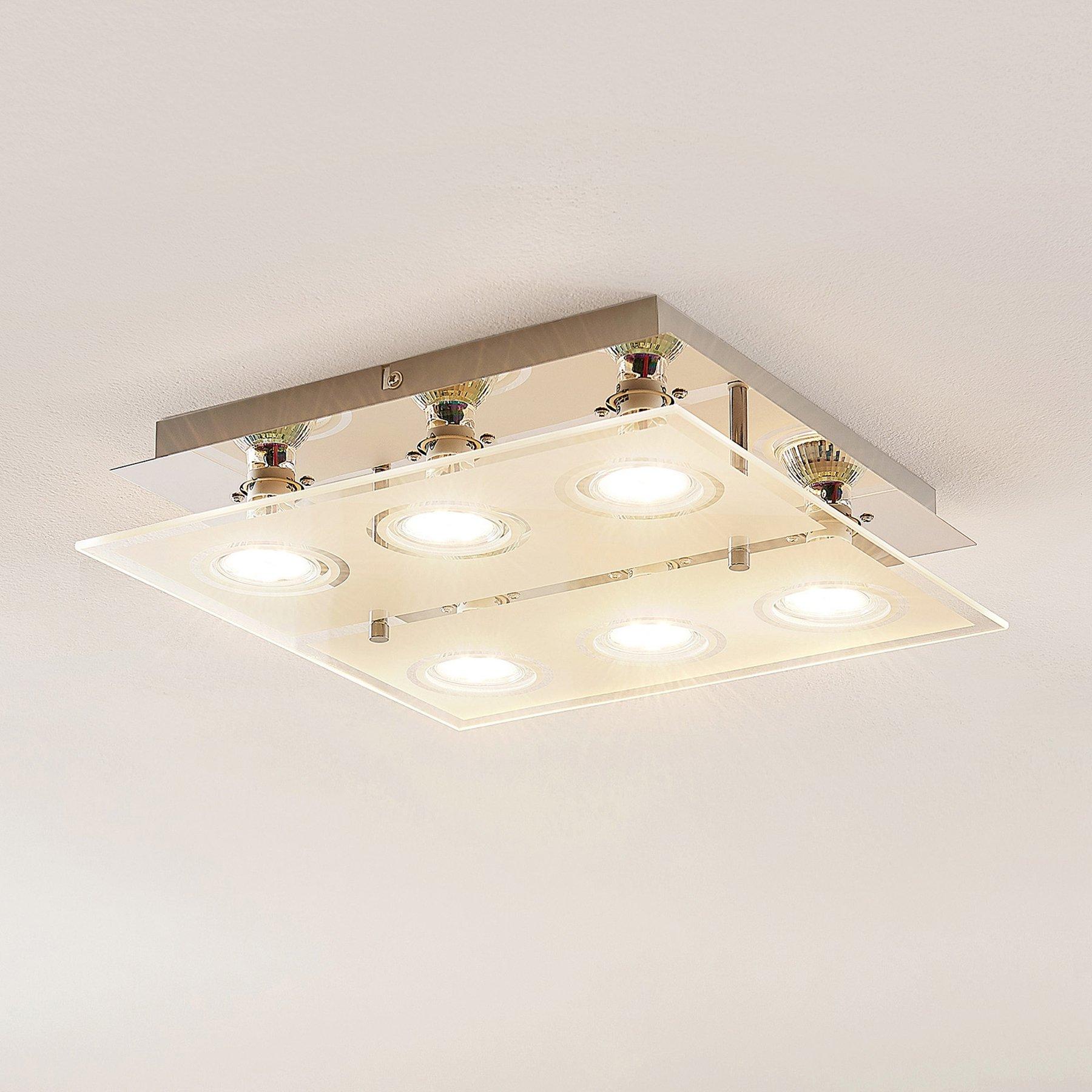 ELC Tahyla LED-taklampe, GU10, glass, 32 cm