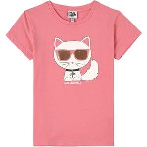 Karl Lagerfeld Kids Choupette T-shirt Rosa 4 år