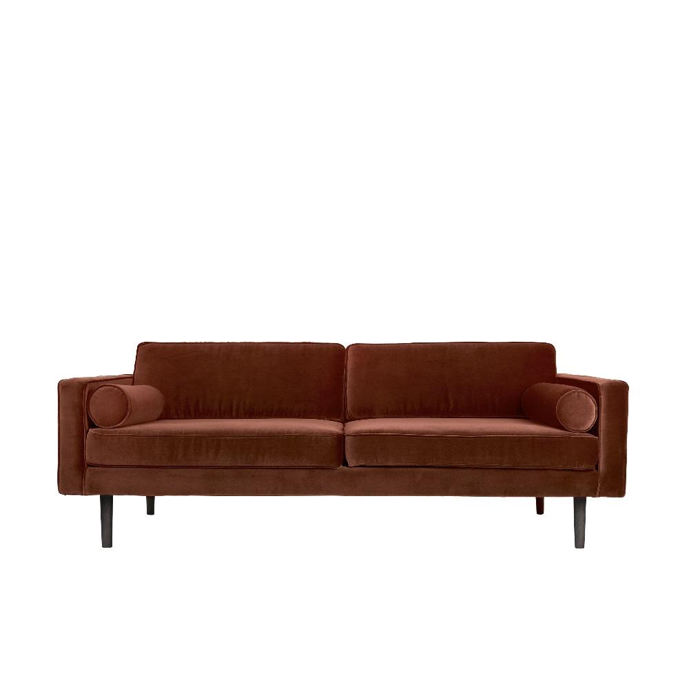 Soffa röd sammet VIND, Broste Copenhagen