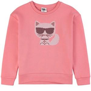 Karl Lagerfeld Kids Choupette Detail Tröja Rosa 4 år