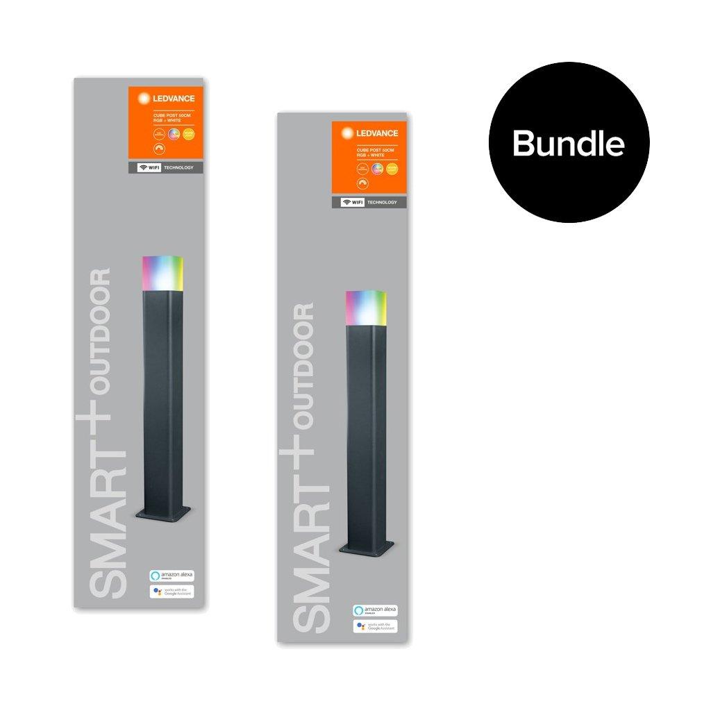 Ledvance - 2x Smart+ Outdoor Cube RGBW - Post Light 50 cm - Bundle