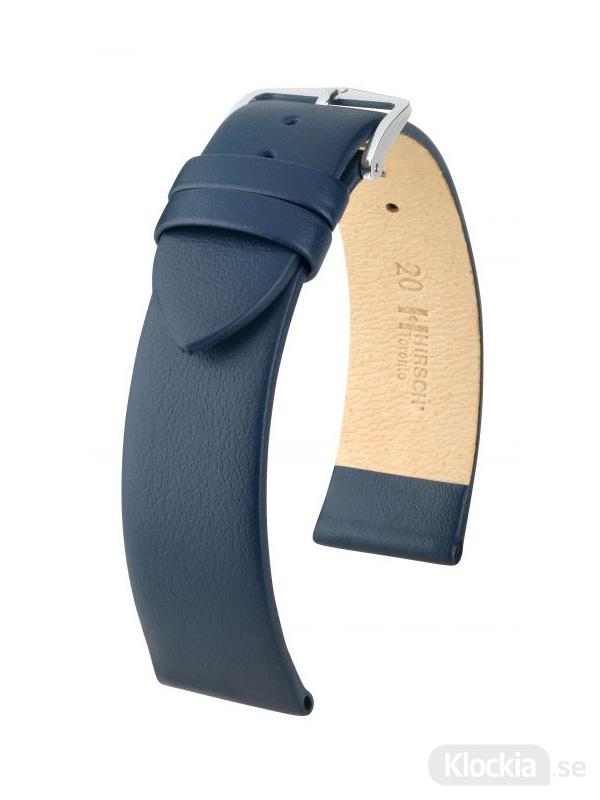 Klockarmband Hirsch Toronto 10mm Medium Blå/Silver 03702180-2-10