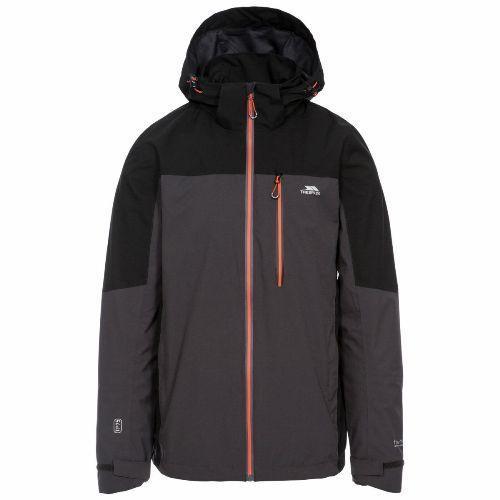 Trespass Men's Waterproof Jacket Various Colours Tappin - Dark Grey S