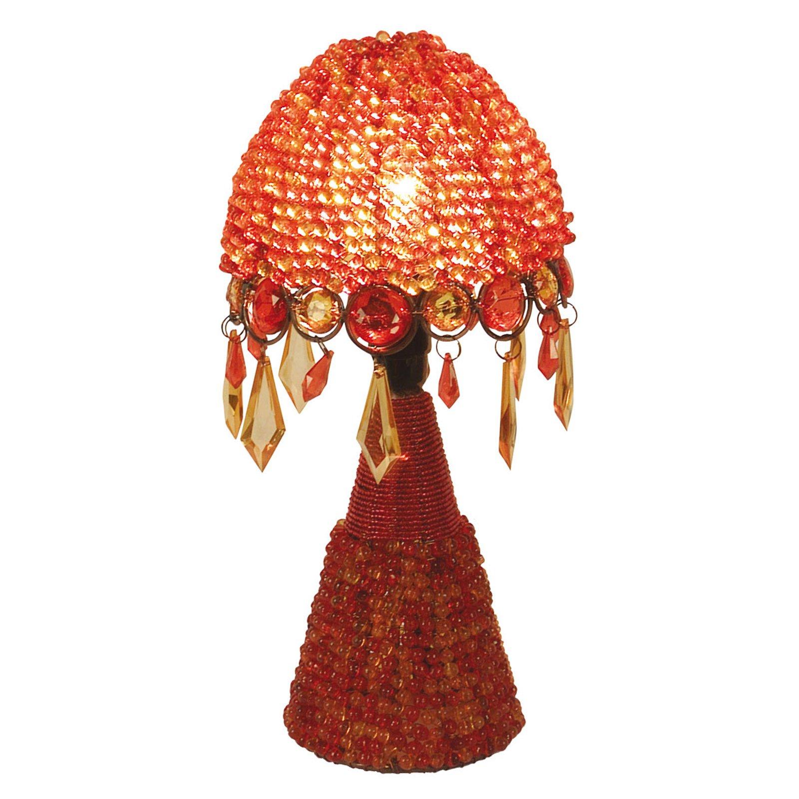 Bordlampe Perla, 30 cm oransje