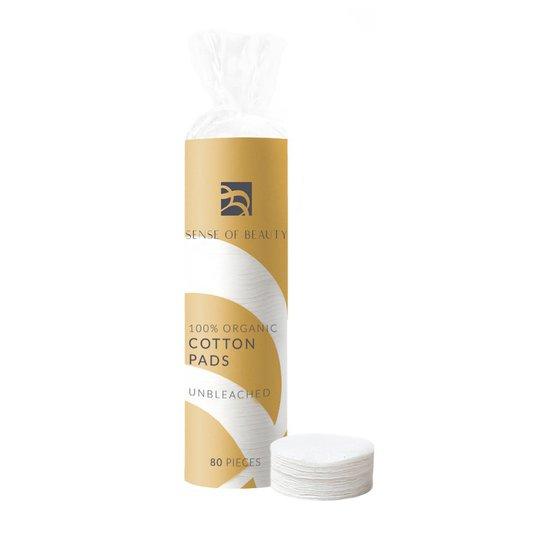 100% Organic Cotton Pads Unbleached, 80 pcs Sense Of Beauty Ihonhoitolaitteet