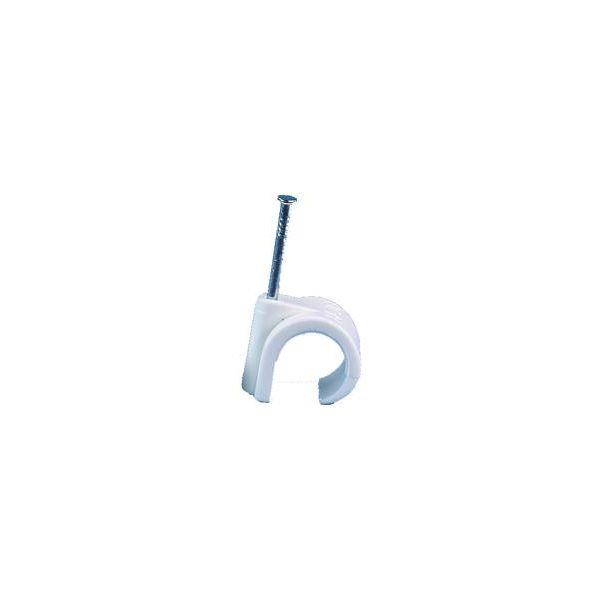 Gelia 050400005 Ledningsholder rund, hvit, 100-pakning 3–5 mm
