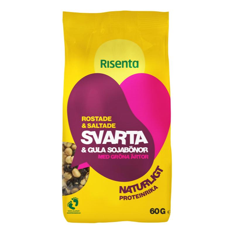 Snacksmix Svarta & Gula Sojabönor 60g - 63% rabatt