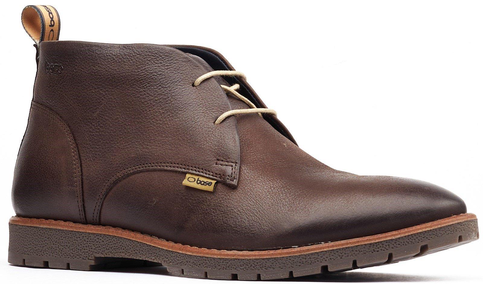 Base London Men's Miller Lace Up Desert Boot Brown 32569 - Brown 7