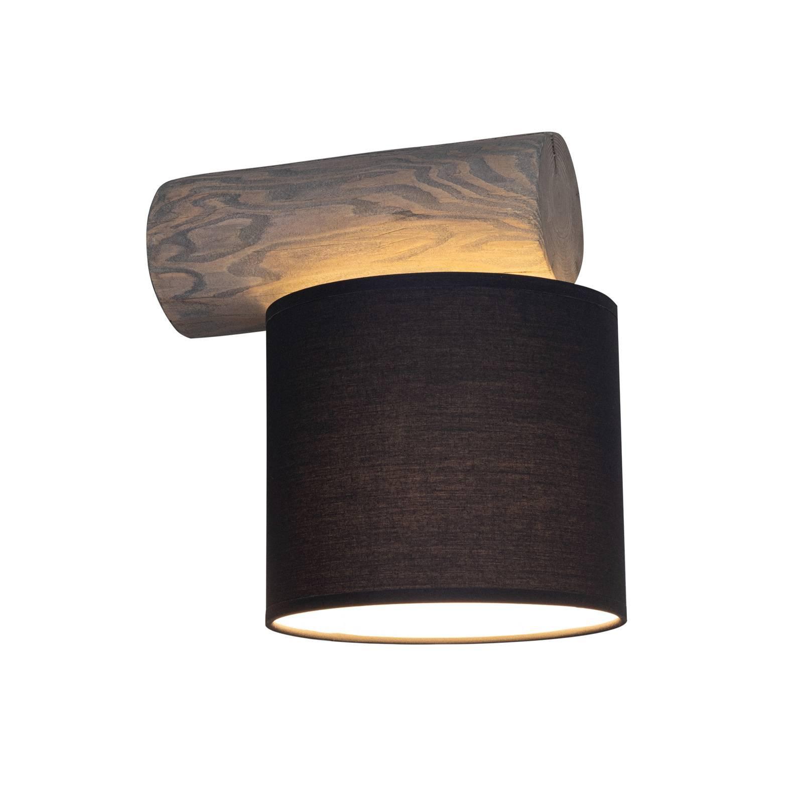 Vegglampe Pino Simple, skjerm antrasitt, tre grå